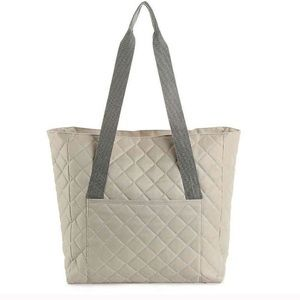 NWT DSW quilted VIP exclusive grey zip top tote.